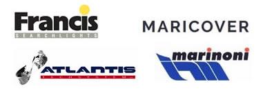 Logo Francis Searlights, Logo MARICOVER, Logo Marinoni, Logo Atlantis